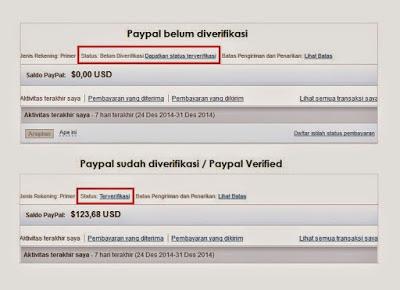 Cara daftar paypal contoh rekening yang terverifikasi