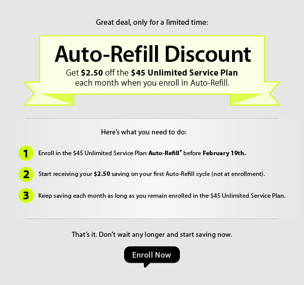 Straight Talk Promotion $2 50 Off $45 Plan With Auto-Refill