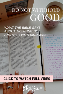 Inspirational Bible Verses | Proverbs 3:27 shows us why we must treat one another with kindness. Subscribe to my Morning Coffee ☕ with series Chellbee video. #bible #bibleverse