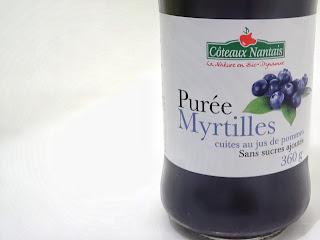 purée de myrtilles - Coteaux Nantais