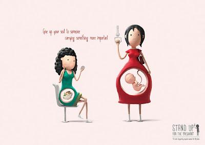 Mujeres embarazadas y cartel