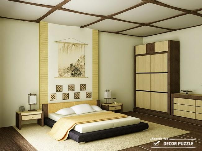fascinating japanese style bedroom furniture | Lovely Japanese style bedroom design ideas, curtains