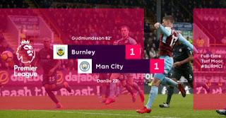 Burnley vs Manchester City 1-1 Video Gol & Highlights - Liga Inggris Sabtu 3/2/2018.