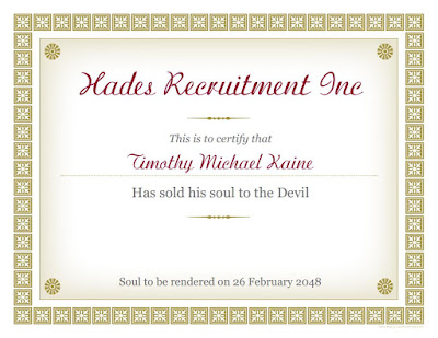 Kaine certificate