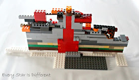 Parts of a Volcano with LEGO