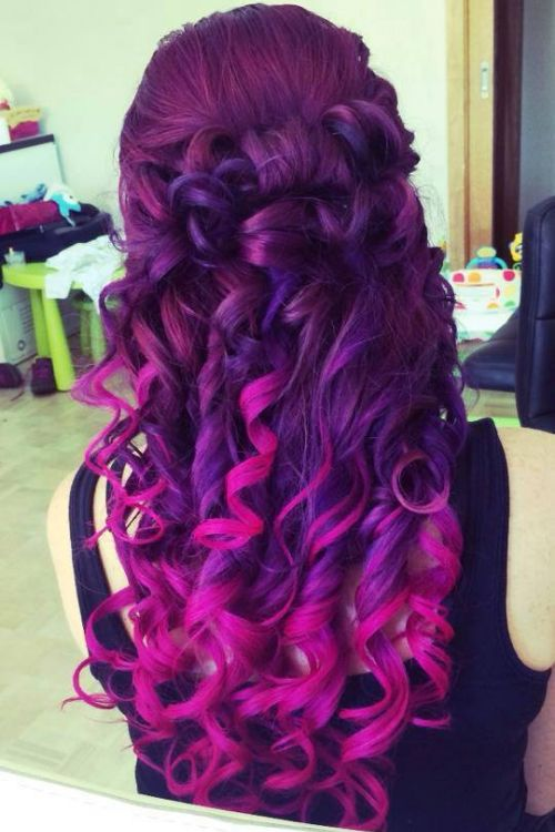 Astonishing Colorful Ombres The Haircut Web