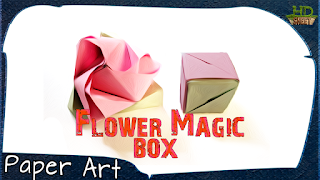 origami magic rose cube | Origami rose, Origami for beginners ... | 180x320