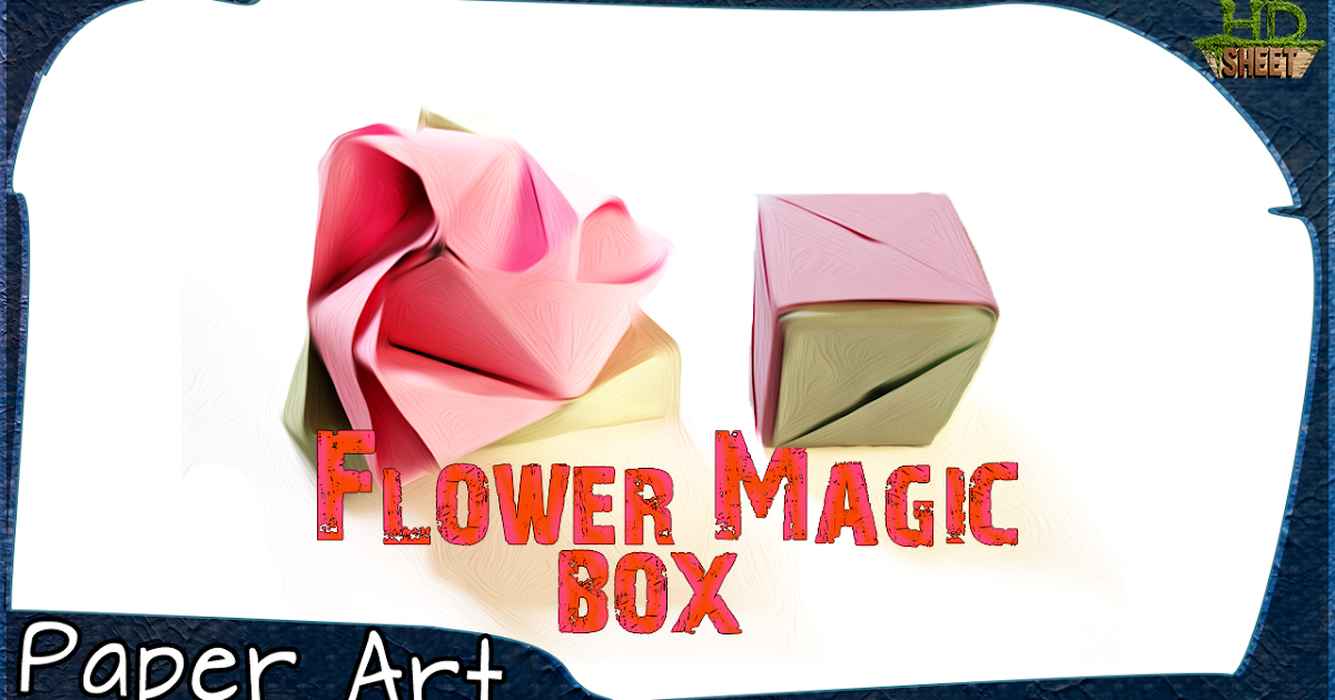 One-Piece Origami Magic Rose Cube - YouTube | 630x1200