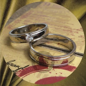 cincin emasputih perak p5733