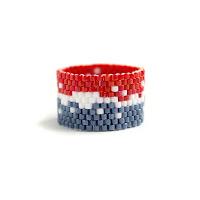 авторские кольца из бисера купить в интернет-магазине украшений ручной работы