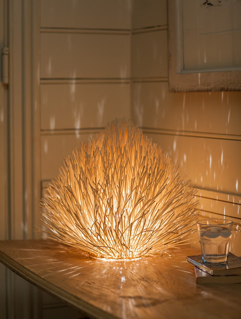 Fair trade lighting - Rattan Anemone Table Lamp
