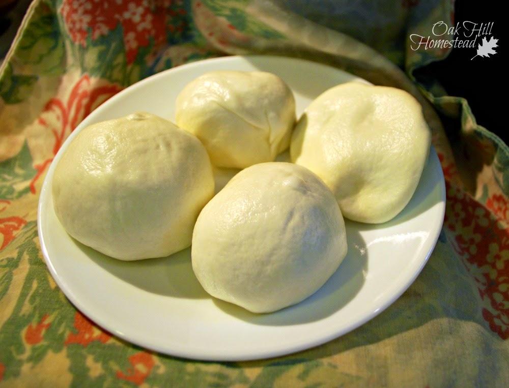 Balls of mozzarella cheese