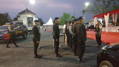 Pengamanan sebelum pelaksanaan acara Torch Relay Asian Games 2018