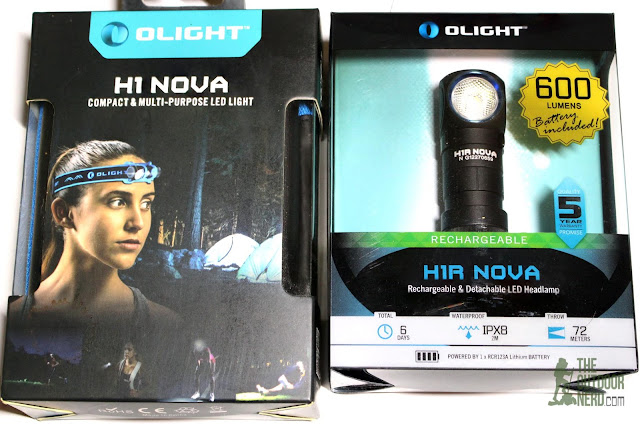 Olight H1 and H1-R Nova Headlamps - In Box