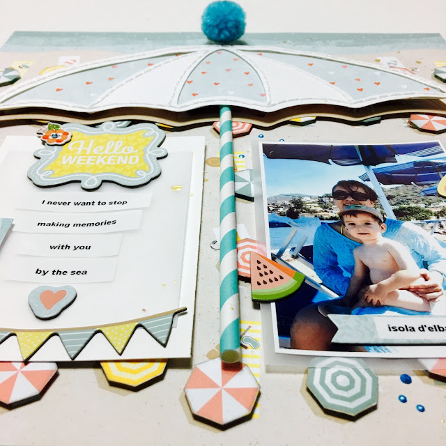 With You Scrapbook Layout Angela Tombari BoBunny Weekend Adventure
