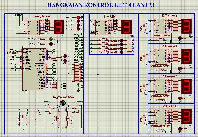 Pengendali Lift 4 Lantai
