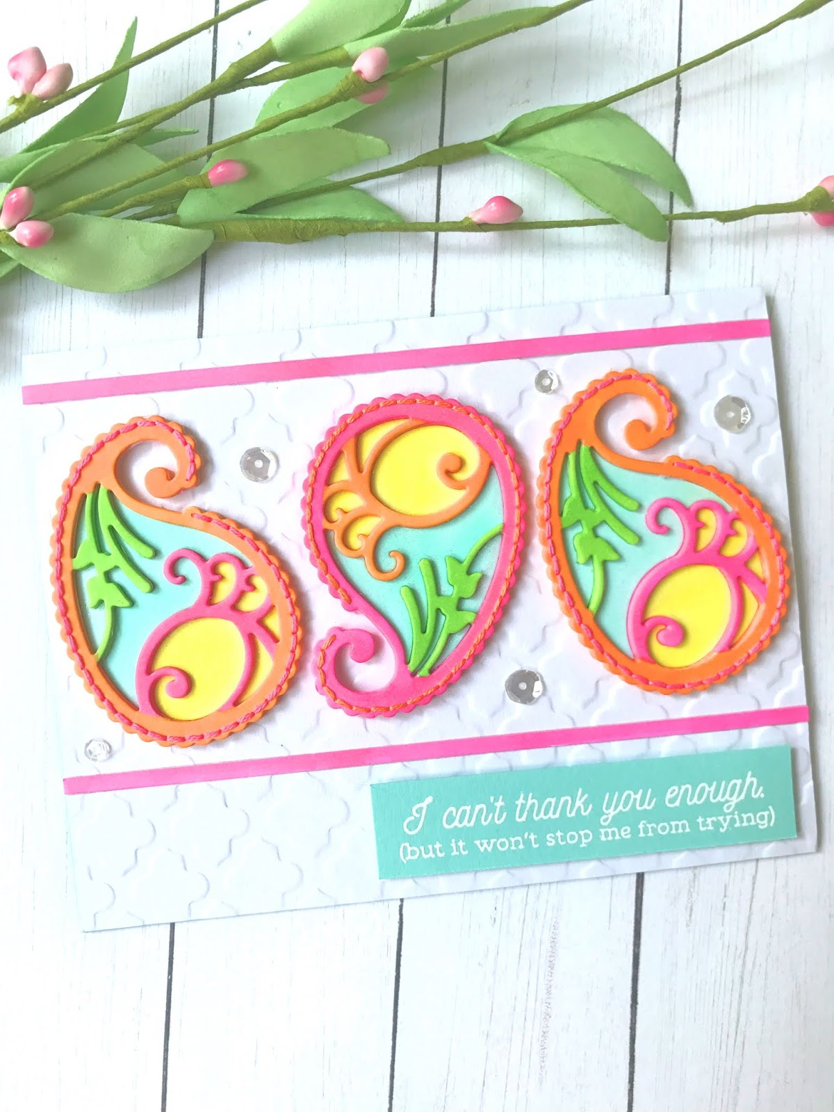 Enhancing Die Cuts with Stitching: Spellbinders July Small