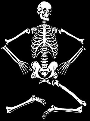 A vintage Halloween Skeleton Decoration.