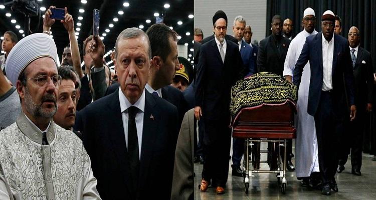 تصرف غير متوقع من أردوغان في جنازة أسطورة الملاكمة محمد علي كلاي
