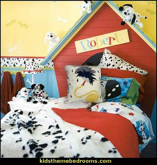 dalmatian bedroom ideas-dogs theme bedrooms-firefighter theme bedroom ideas