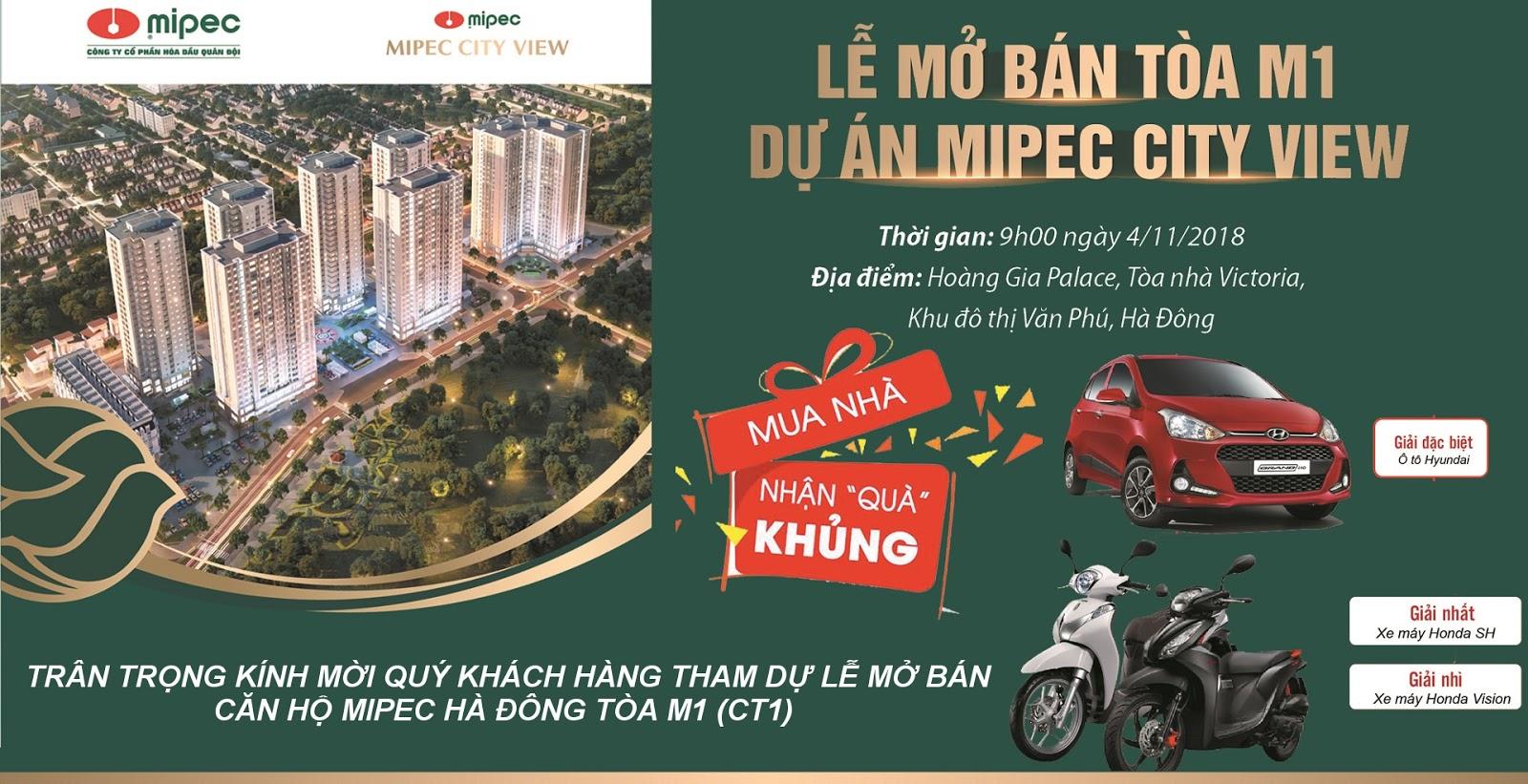 Hình ảnh Lễ Mở bán Mipec Hà Đông tòa M1 tháng 11 năm 2018