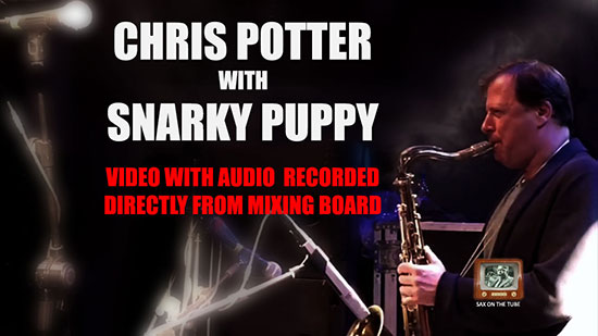 Sax On The Tube Chris Potter With Snarky Puppy Lingus Best Video