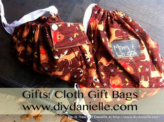 How to make your own cloth gift bags