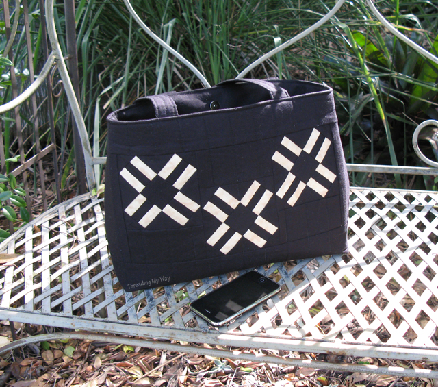 Foundation Paper Pieced Tote Bag ~ Threading My Way