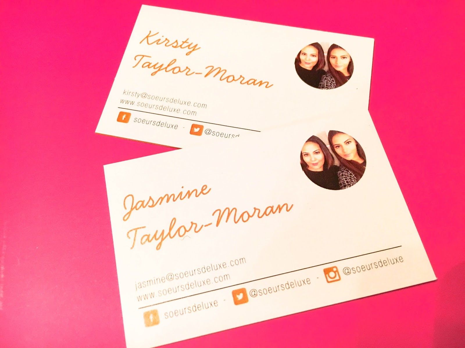 What to put on blog business cards surs de luxe aura print coloured core business cards soeurs de luxe what to put on your blog business colourmoves