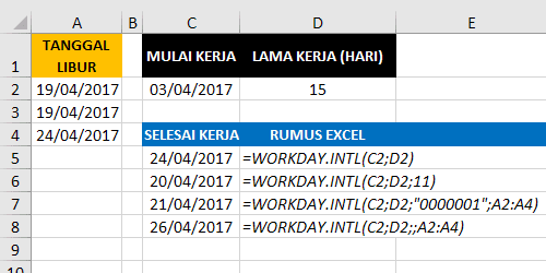 Contoh Rumus Excel Workday.Intl