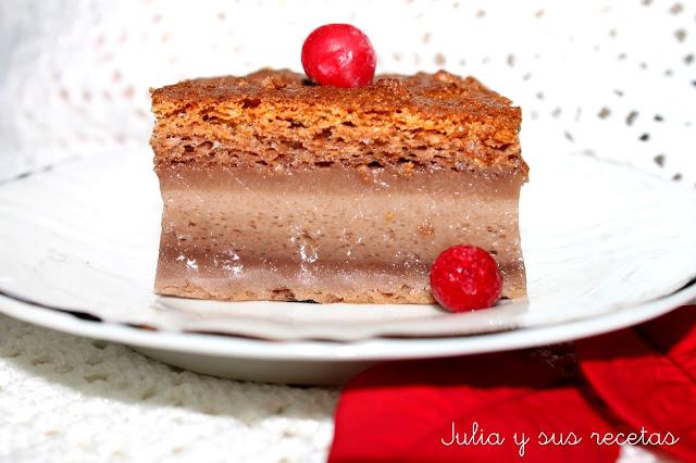 Bizcocho inteligente de chocolate. Julia y sus recetas