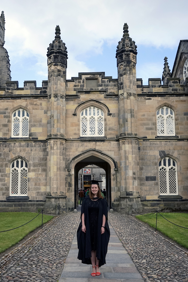 Graduating from the University of Aberdeen