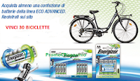 Logo Energizer: Ricaricati pedalando e vinci 30 biciclette Doniselli