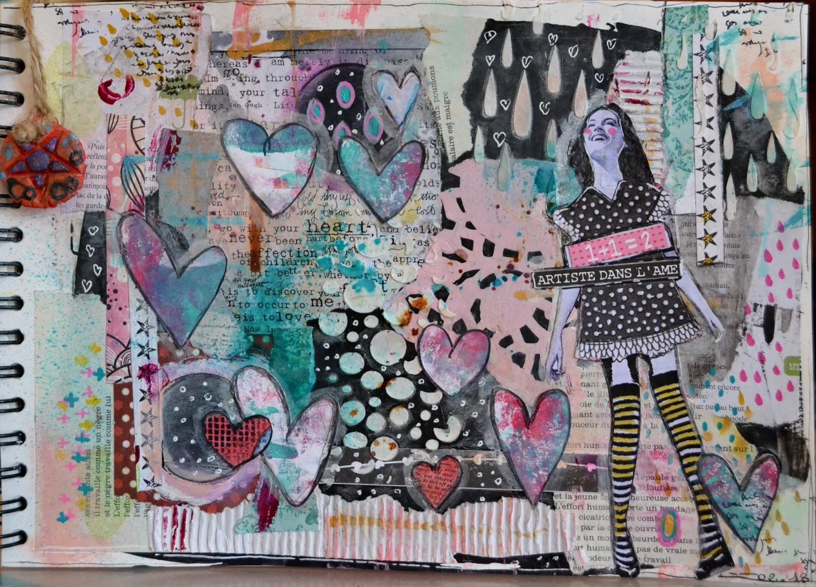 Scrap et Sens : Février pour le club Journal d\'Art du Québec