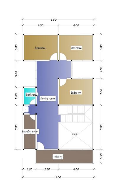 2nd floor plan of beautiful house plan 31