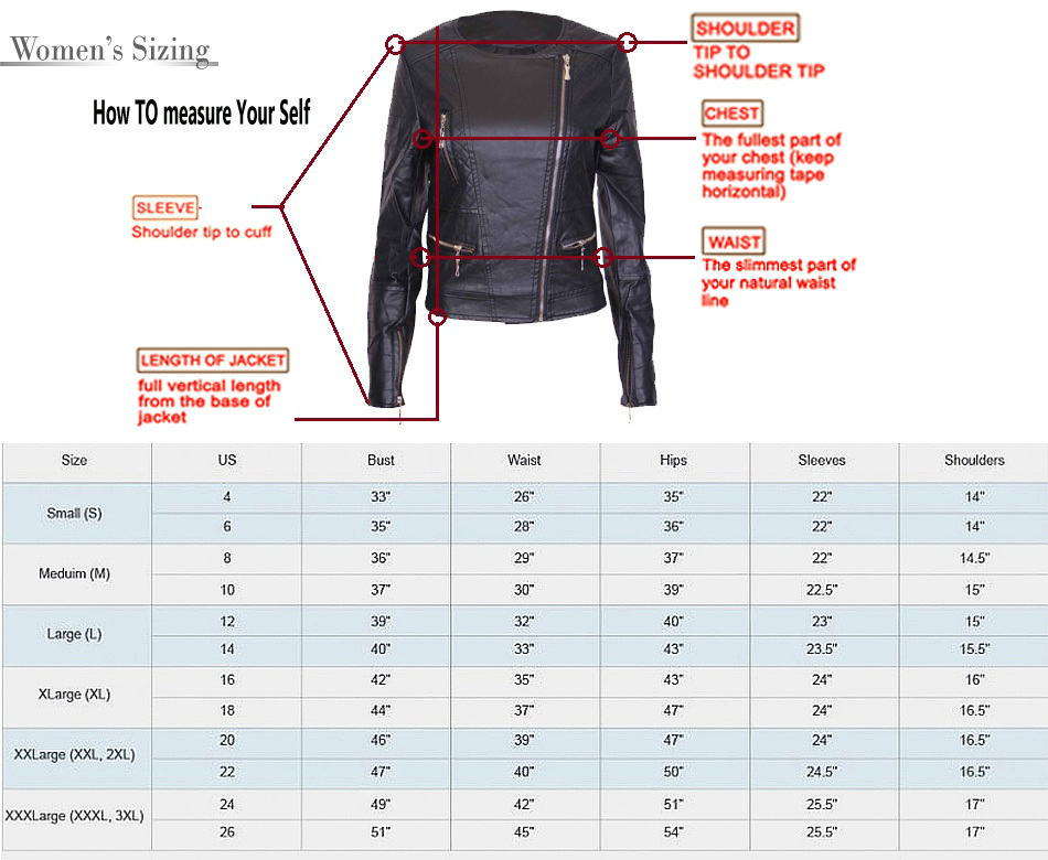 Women  jacket size chart dresslily the order regarding and coat also ottodeemperor rh
