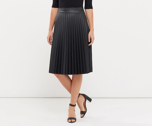 faux leather midi skirt from Oasisi stores