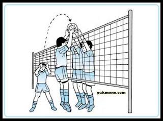 teknik dasar bola voli blok bendungan