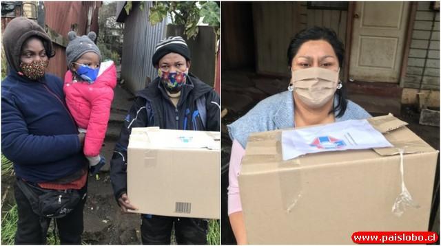Colegio Médico Osorno dona 90 cajas de alimentos a familias vulnerables😷