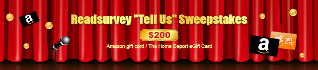 Readsurvey wants you to enter once for your shot at winning a Gift Card worth $200 to spend at Home Depot or Amazon.com!