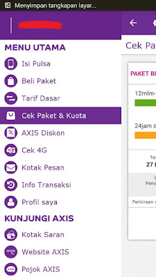 menu aplikasi axis