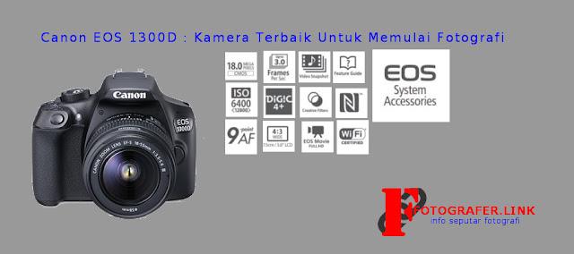 Infografis Spesifikasi Canon EOS 1300D di Indonesia