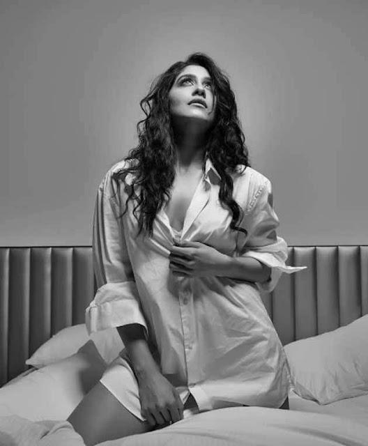 Regina Cassandra Photoshoot Stills in White Top
