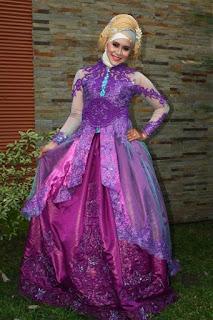 model kebaya modern 2016 ungu