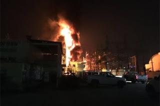 Incendio deja sin luz a la ciudad de Villahermosa Tabasco