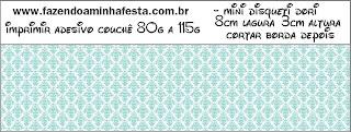 Tiffany con Rosas: Etiquetas para Candy Bar de Bodas para Descargar Gratis.