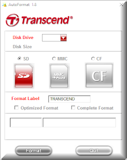 Transcend Autoformat v1.8 software download