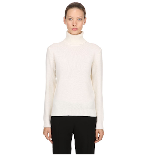 TURTLENECK WOOL & CASHMERE BLEND SWEATER