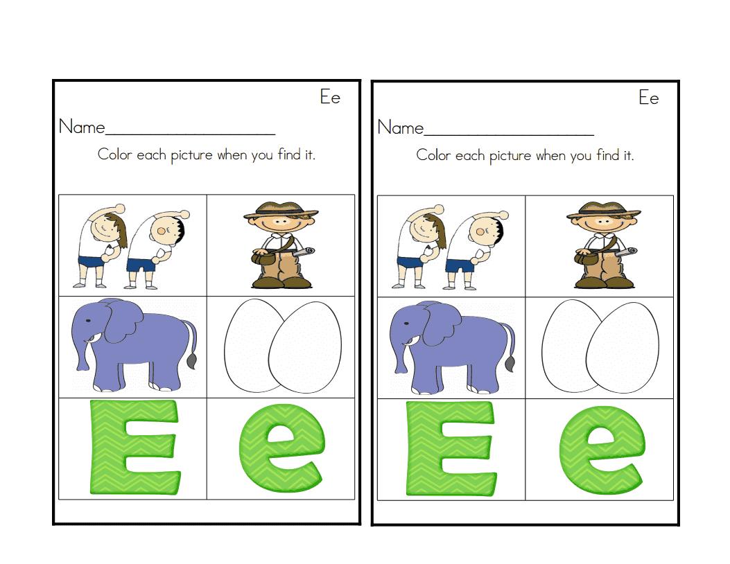 Sprinkles To Kindergarten Letter Ee Activities