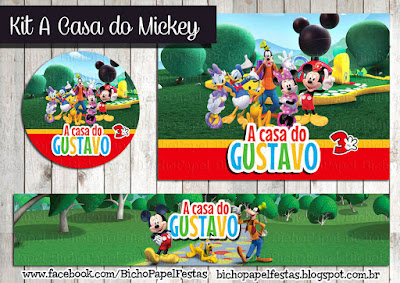 Kit Festa A Casa do Mickey